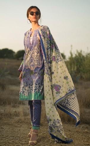 Lakhani Komal Lawn 2018 KEL-8008B KOMAL SPRING LIFE